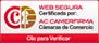 Web segura cerficado por Camerfirma, Camara de comercio