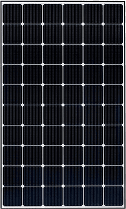 Bateria solar Gama Premium Frame Black frontal